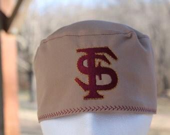 scrub hat/ mens scrub hat/ FSU