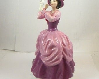 Vintage Royal Doulton Porcelain Lady Figure Pamela, HN 2718 Discontinued