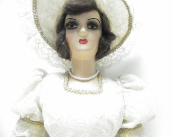 Vintage 1920s Boudoir Doll, Antique French Bedroom Doll