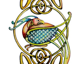 CELTIC BIRD reproduction with FREE shipping