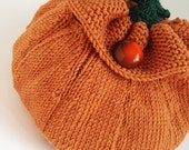 Pumpkin Knitted Bag Pattern.  PDF Download to Make Trick or Treat Bag - Scrumbobbly