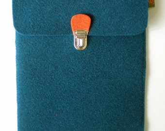 Ipad case in wool felt, tablet case, choice of 4 colours