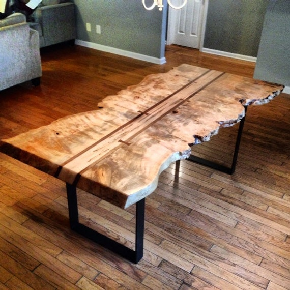 Items Similar To LIve Edge Maple Burl Dining Table On Etsy