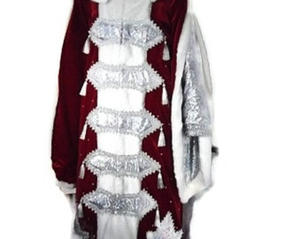 Red Santa Claus Costume of velvet for the New year