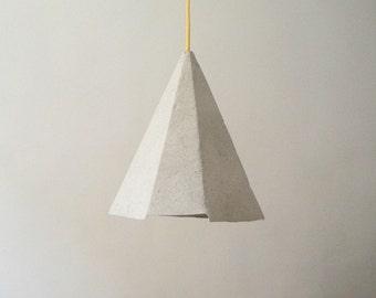 Paper mache lamp Topaz, lamp, pendant light, hanging lamp, pendant lamp,