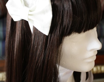 Shiro Headdress-White headdress-Classic Lolita-Old School Lolita-Maxi Pad Headdress
