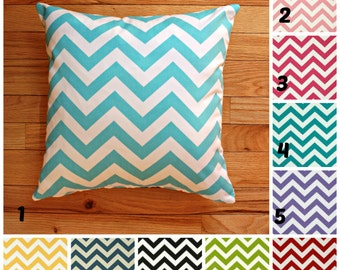 SALE Pillow covers,  Decorative Pillow , Throw Pillow , Cushion , Chevron pillow , pillow cover only ZIPPER CLOSURE