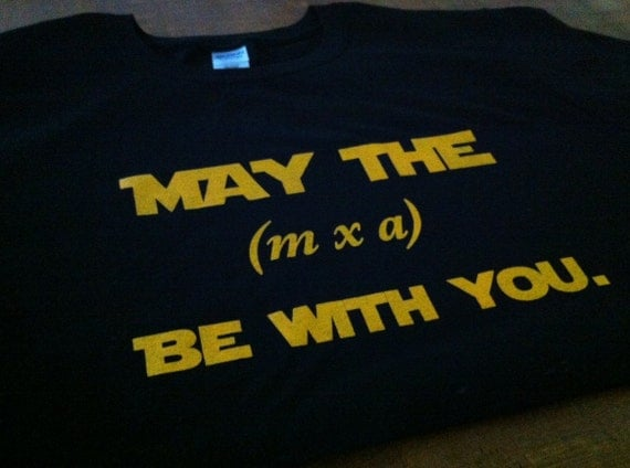funny physics star wars t-shirt