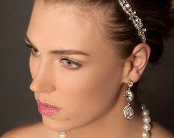 Rhinestone Bridal Headband, Rhinestone Bridal Headpiece, Wedding Headpiece, Wedding Headband, Bridal Hair Accessories, Wedding Hair,H5W