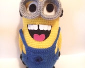 MINION PLUSH AMIGURUMI 12'' 1/2 height inspired gru amazing film doll crochet villain favourite despicable me