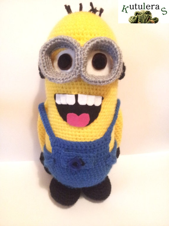 Amigurumi Minion Etsy : MINION PLUSH AMIGURUMI 12 1/2 height inspired gru by ...