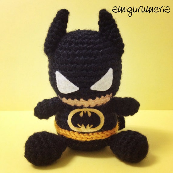 Amigurumi BATMAN SuperHero toy teddy of crochet by ...
