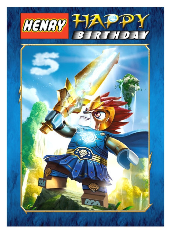 Lego Legend of Chima Personalised Birthday Card A5