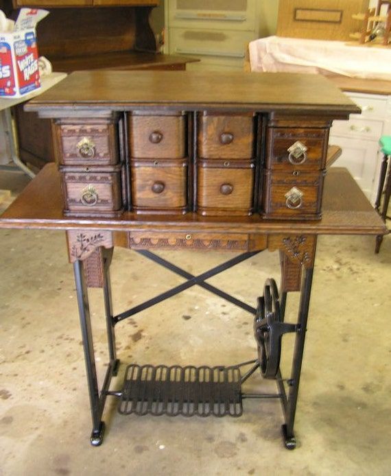 Items Similar To Repurposed Sewing Machine Leg Table With