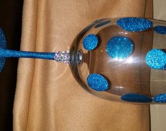 Wine Glass (Glitter Bling)--19oz.
