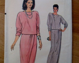 Vintage Vogue Pattern 8735 Draped Skirt and Top
