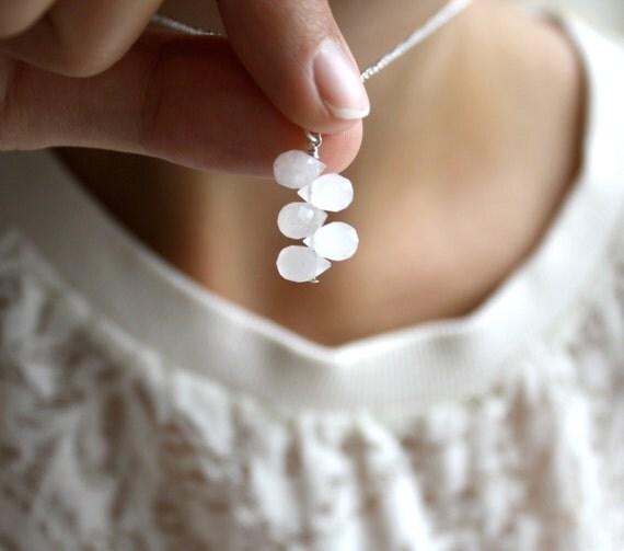 Light pink rose necklace