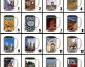 Full Color 15 oz. Ceramic Coffee Mug with original New York photography.  Pick any one. 16 to choose from.