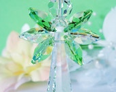 Guardian Angel Suncatcher Car Charm Green Swarovski Crystal Car Mirror Accessories