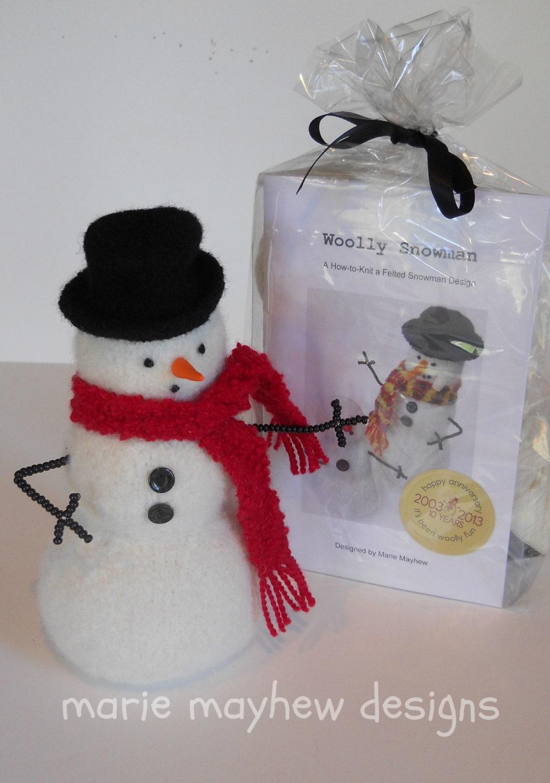 Kit mod le mod le de bonhomme de neige de laine et kit de - Modele bonhomme de neige ...