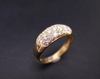 Diamond Wedding Ring in 14K Yellow Gold, Diamond Wedding Band, Wedding Rings Women, Diamond Engagement Ring, Diamond Ring, Unique Ring