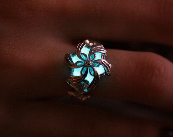 Nenya Galadriel RING .925 Sterling Silver that GLOW in the DARK