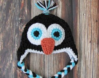 Baby Penguin Hat / Newborn Penguin Hat / Newborn Photography Props / Newborn Photo Prop Hat / Penguin Hat / Baby Shower / Newborn Photos