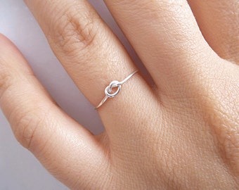 Sterling Silver Knot Ring - Bridesmaid Ring  - Tie the Knot Ring - Friendship Ring - Promise Ring - Best Friend Ring - Mother Ring