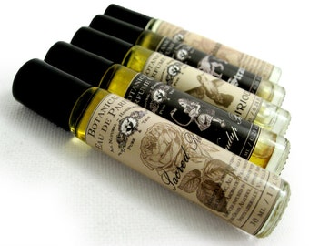 Roll-on Perfume. Pick Your Potion, 1/4 oz. Botanical Perfume Oil. Organic Essential Oils. Natural Cologne & Perfume.