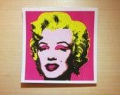 Pop Marilyn Monroe Transparent Sticker, 100% Waterproof Vinyl Transparent Sticker, Pop Culture Transparent Sticker