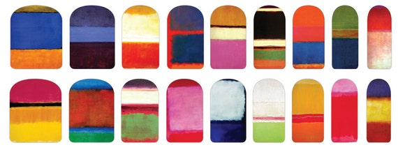 Nail Decals of Mark Rothko Paintings