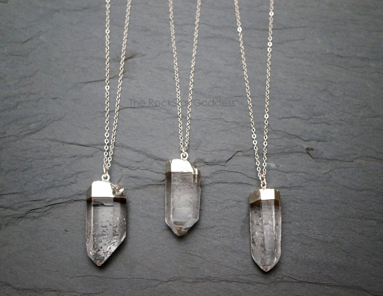 quartz necklace quartz crystal raw quartz crystal. Black Bedroom Furniture Sets. Home Design Ideas