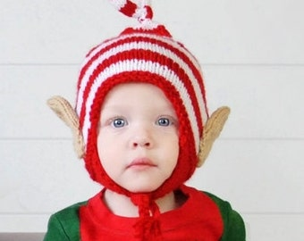 Baby Elf Hat, Baby Elf Beanie, Elf Hat, Elf Ears, Christmas Hat, Baby Christmas Hat, Toddler, Child