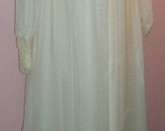 Vtg 70s William Cahill Wedding Dress Victorian Edwardian Hippy Festival S