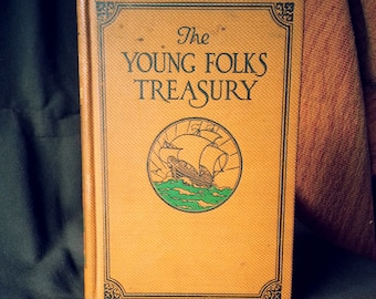 Vintage Modern Storybook 'The Young Folks Treasury' Copyright 1919