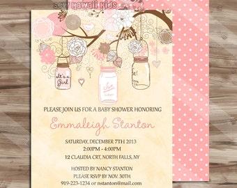 Shabby Chic Baby Shower Invitation Templates