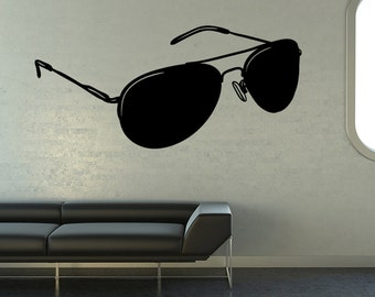 Vinyl Wall Decal Sticker Aviator Sunglasses OS_MB1106B