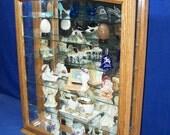 Oak Wall Curio Cabinet- Tabletop Display