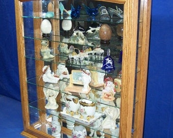 Oak Wall Curio Cabinet- Tabletop Display