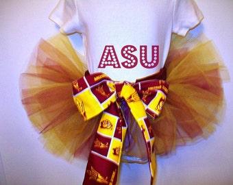 ASU Tutu - Arizona State University -SunDevils - Maroon and Gold - Custom made to order