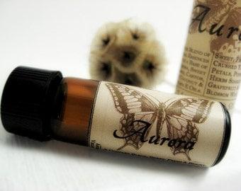 Botanical Perfume Oil. Aurora - Ylang Ylang, Honeysuckle, Apricot, Lime  Natural Perfume. Organic Essential Oils.