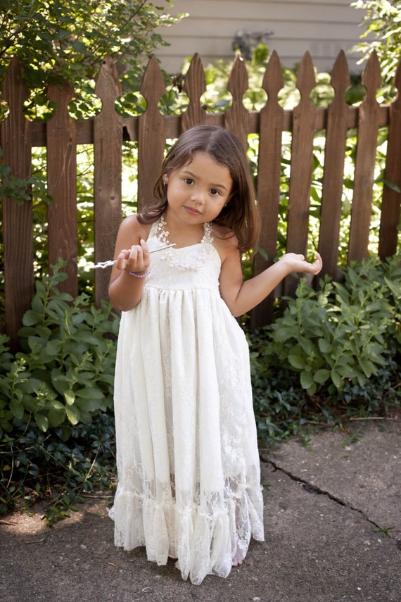 White Lace Dresses For Girls Girls Maxi Dress Lace