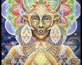 """16""""x16"""" Eco Art Print - She Hath Ore by Ishka Lha"""