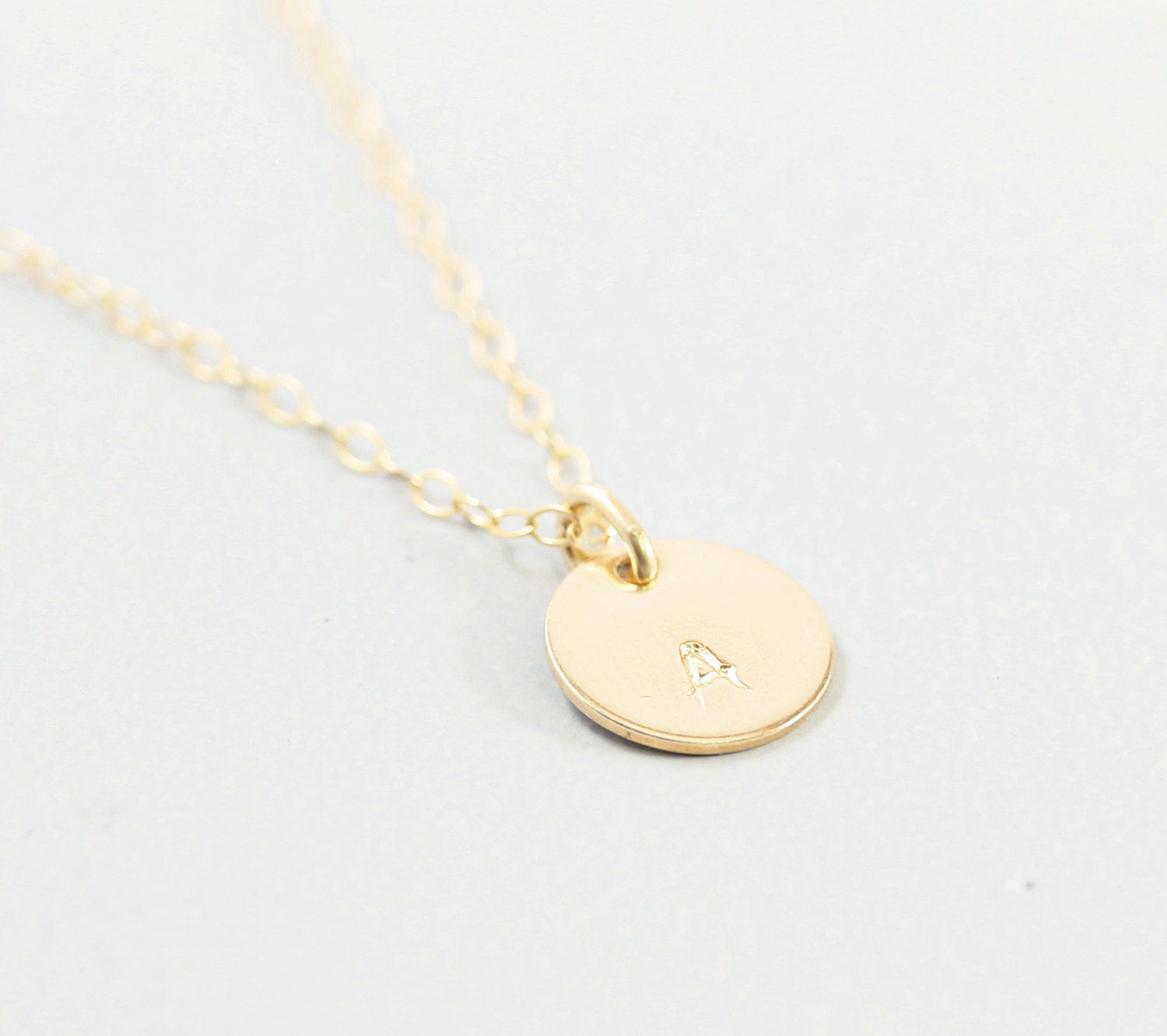 Personalized necklace 14k gold filled initial necklace gold for Gold filled jewelry