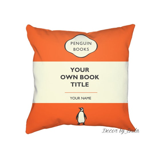 Penguin Book Cover Personalised ~ Penguin books custom pillow case your own book by decorbyedna