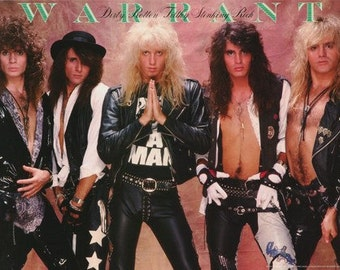 Warrant Band Dirty Rotton Filthy Stinkin Rich Rare Poster