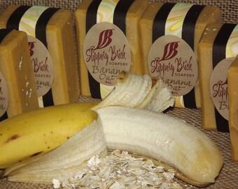 Banana Oat Brick Natural Soap