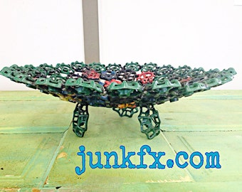 Recycled Bowl Made from Vintage Faucet Handles  **Free Shipping**