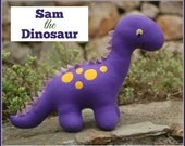 Sam the Dinosaur - PDF Sewing Pattern with Step-by-Step Photos and Easy Instructions