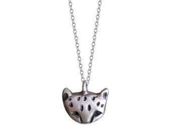 Cheetah Cub Face Necklace